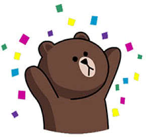 line bear sticker