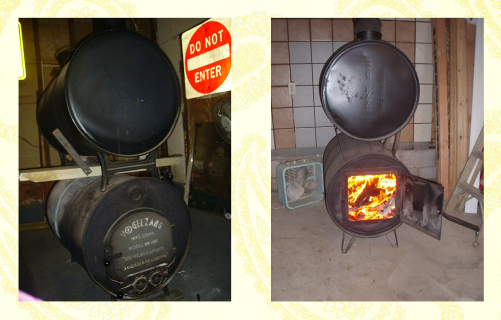 Finished building propane wood stove DIY method