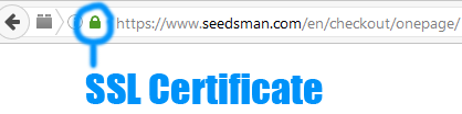 SSL secure checkout at cannabis seedbank