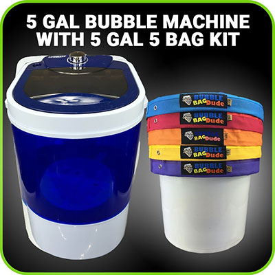 Bubble Machine 5 Gallon Bag Ice Bags Mixing Kit