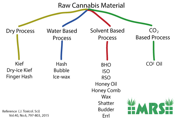 Types of Cannabis Extracts Chart Visual