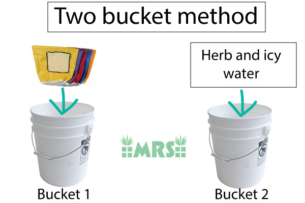 how to make bubble hash with two buckets of water
