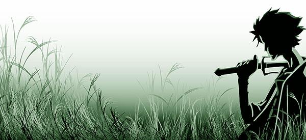 Open patch of cut-down grass