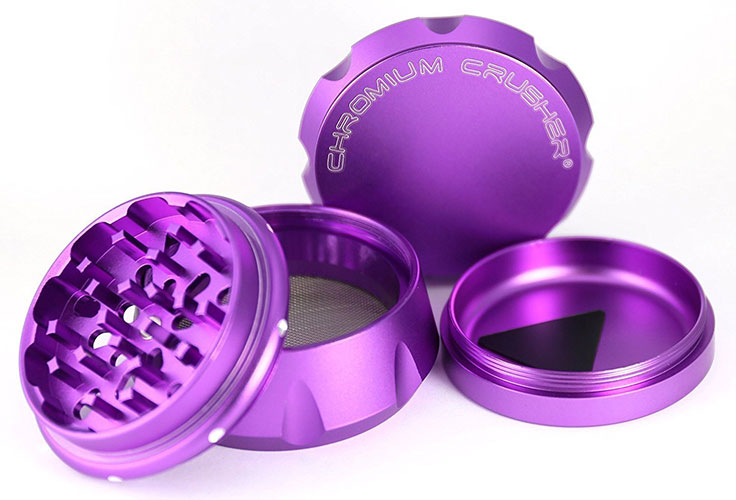 A cute shiny pink weed grinder
