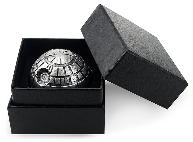 A cool black weed grinder for Star War fans