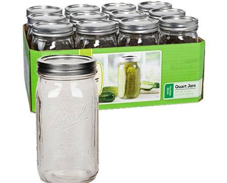 Mason Jars for Storage
