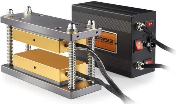 caged rosin press plates kit new by dabpress