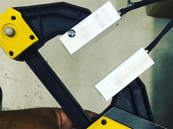 DIY rosin heat clamp with Dewalt press-plates