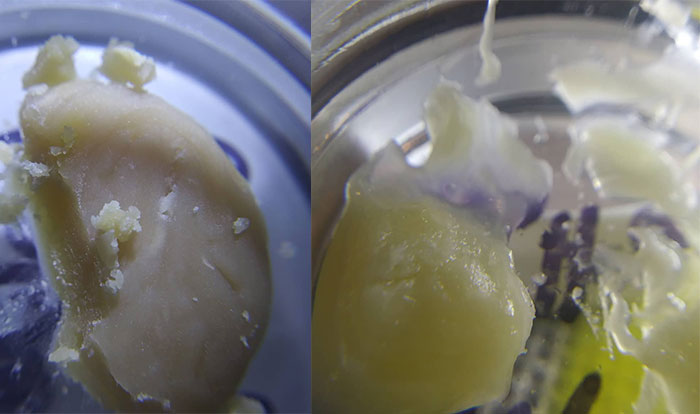a closeup picture of made rosin