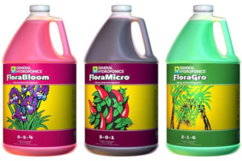 general-hydroponics flora nutrients for hydro plants
