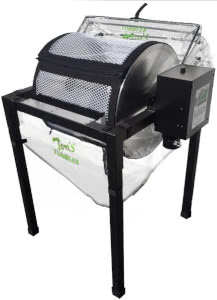 toms tumbler bud trimmer machine for dry cannabis