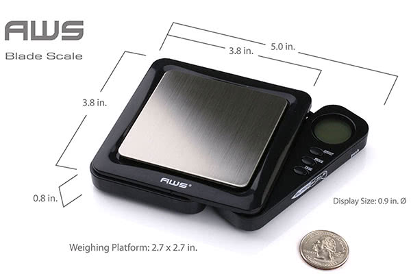 The best portable, small scale for weighing weed: AWS Blade Scale