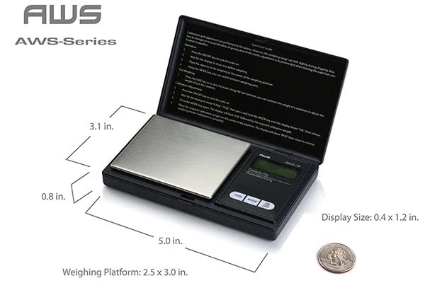 The best selling cheap weed scale for weed: AWS Pocket Scale