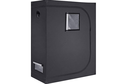 Growtent Garden 48x24x60 Reflective 600D Mylar Hydroponic Grow Tent: Good for Weed & Cheap
