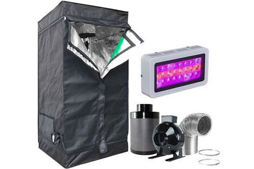Hongruilite LED Grow Light + Multi-sized Grow Tent Kit Combo Grow Weed