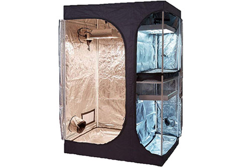 #4 Best Closet Grow Tents & Mid-sized: TopoGrow 2-in-1 48