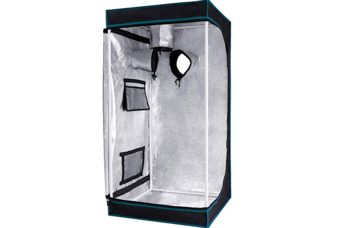 Opulent Systems 24x24x48 Mylar Hydroponic Grow Tent: 2019 Best Affordable