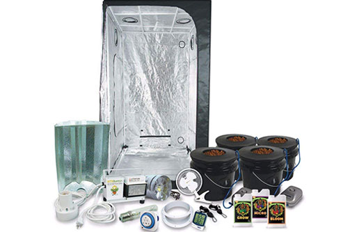 HTGSupply 3x3 Grow Tent Kit, 400-Watt HPS Grow Light + DWC Hydro System