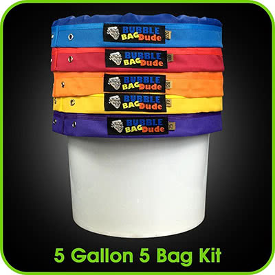 BUBBLEBAGDUDE Bubble Bags 5 Gallon 5 Bag Set