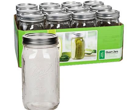 Store buds in Mason jars