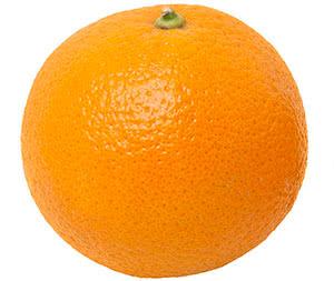 Use an orange to remove resin buildup on scissors