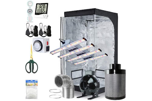 #3 Best Grow Tent Kit 2021: BloomGrow 1200W LED Complete Grow Tent Kit