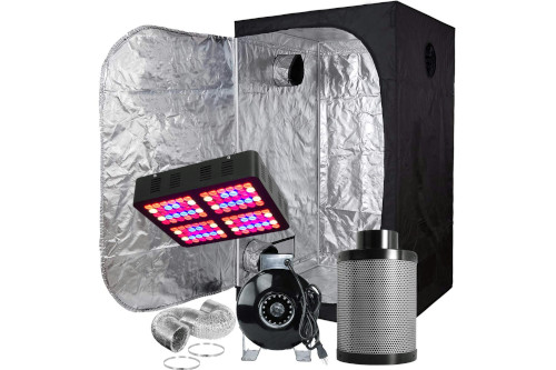 #4 Best Grow Tent Kits 2020: Hongruilite LED Grow Light Multi-sized Grow Tent Kit Combo