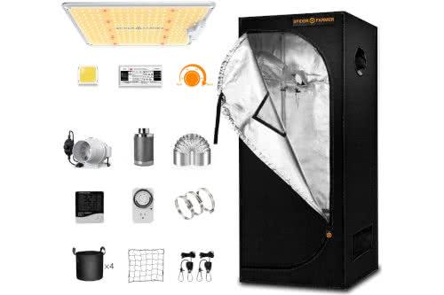 #4 Best Grow Tent Kits 2021: Spider Farmer Grow Tent Kit Complete SF-1000 LED Grow Light