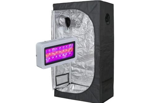 #2 Best Grow Tent Kit 2020: TopoLite LED Grow Light + Multiple Size Grow Tent Kit