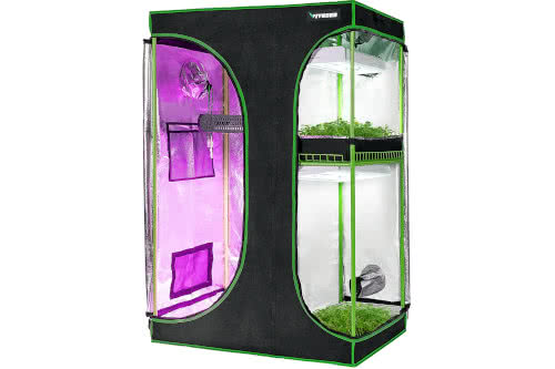 #2 Best Closet Grow Tents and Mid-sized: VIVOSUN 2-in-1 48x36x72