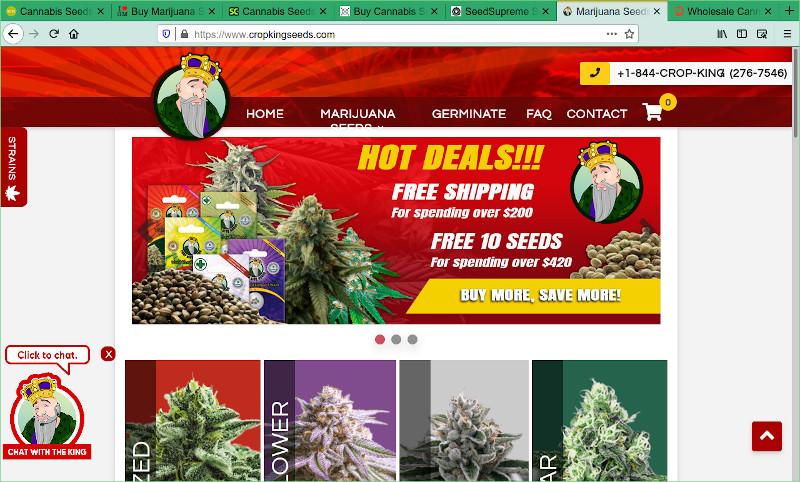 Crop King Seeds Marijuana Seed Bank Review