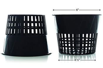 6-inch net pots