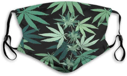 marijuana leaf mask